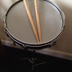 Drum with sticks & stand