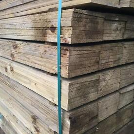 Tanalised Wooden/ Timber Fencing Panels/ Boards/ Pieces