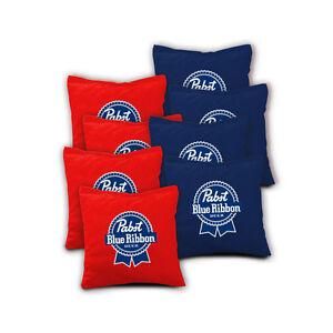... BLUE-RIBBON-Beer-Cornhole-Bags-SET-of-8-ACA-REGULATION-Baggo-Bean-Bags