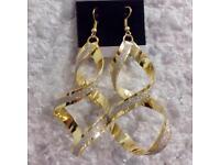 Vintage alloy drop earrings