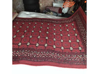 3 lovely Persian carpets, in burgundy, clean and in very good condition.