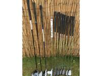 Driver, Fairway wood, Rescue, Two ball putter, set of 8 Slazenger irons. Ideal for a beginner. £75