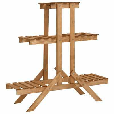 Soporte para Plantas 3 Niveles madera de abeto 83x25x83 cm Jardin Jardineria