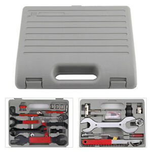 44PC Bicycle Maintenance Box Case Bike Repair Hand Wrench Tool Kit Cycling Set