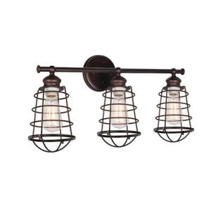 NEW Design House 519736 Ajax 3 Light Vanity Light, Bronze