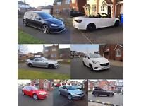 Golf R 2015, BMW M3 2003, BMW M3 2012, CORSA 2015, ASTRA COUPE 2015, VW GOLF TDI 2014, RANGE RS 2010
