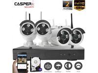 CASPERi 2MP 1080P Wifi NVR Kit 4CH Network Surveillance Camera Security System