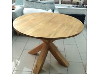 Next Hudson Solid Oak Table and Four Chairs