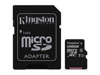128gb micro sd card both Kingston and Samsung £30 each
