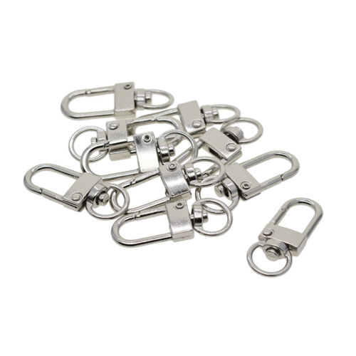 20 Pieces Alloy Small Swivel Clasps Lanyard Snap Hook