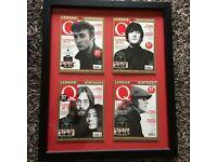 John Lennon Framed Q-Magazine Covers