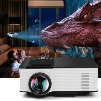 4K WIFI HD 1080p LED Projector Home Theater 1 8GB Multimedia for