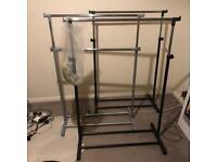 x3 adjustable height clothes rails bundle sale