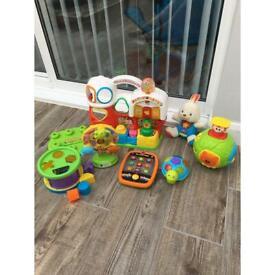 Huge bundle 3-12 months baby toddler toys boys girls farm sort and build tablet ball rabbit turtle