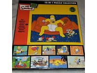 The Simpsons 10 In 1 Puzzle Collection, NEW, 1/2 price