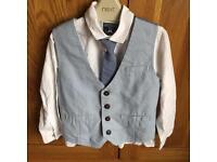 Next shirt, tie and waistcoat. Aged 4-5
