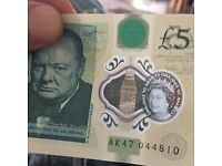 New £5 polymer AK47 note.