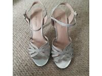Silver heels - Size 4 - New Look - Worn once!