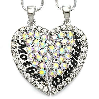 Mom Mother & Daughter Best Friend Mother's Day Gift Heart Pendant Necklace (Mother's Day Gift For Best Friend)