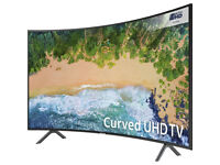 "Samsung UE55NU7300 55"" Curved Smart 4K Ultra HD with HDR - Charcoal Black"