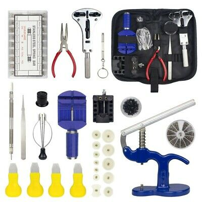914PCS 3 IN 1 Watch Repair Tool Kit Case Opener/Press+12 Dies Spring Bar Tool