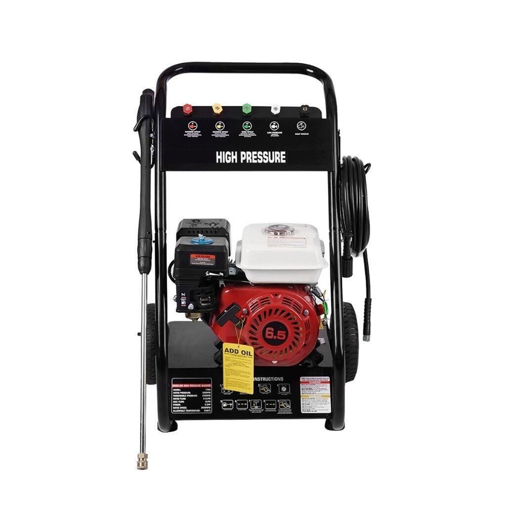 Brand New Petrol Power Pressure Jet Washer 2200psi 150bar 6.5hp