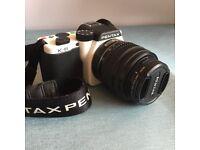 Mirrorless camera,Red Dot Design Award, Classic Design, Pentax K-01 with 18-55mm Lens