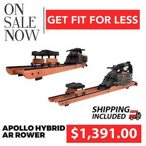 First Degree Fitness Apollo Hybrid AR Water Rower on SALE | SHIPPING INCLUDED