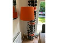 Stunning large floor lamp big bright orange shade