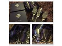 Five vintage Edinburgh crystal glasses
