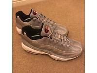 Brand new Nike Air Max premium metallic silver size 9