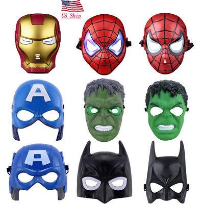 US SHIP Avenger Infinity War Superhero LED Cosplay Mask Kid Adult Halloween Prop - Superheroes Mask