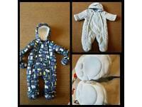 baby snowsuit size 0-3 months