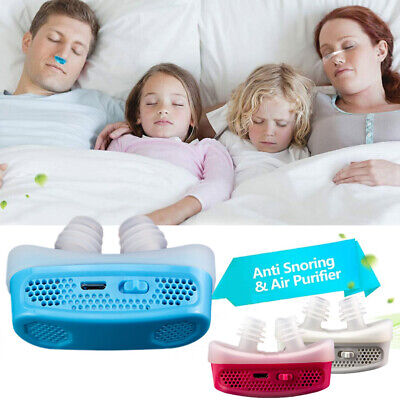 Anti Snoring Devices Air Purifier Sleep Aid Snore Stopper MiCPAP Nose Machine
