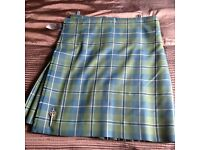 "Gents kilt 38"" to 42"", Douglas tartan.26 inch drop"