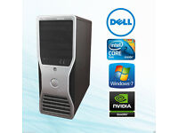 Gaming Dell Precision T3400 PC TOWER,4GB RAM,NVIDIA QUADRO GRAPHICS
