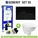 Geberit UP320 Toiletset set01 Basic Smart Met Matzwarte D...
