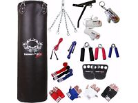 TurnerMAX 13 pc Boxing Set that includes a Punch Bag along With Many Other Things