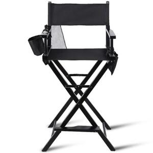 Foldable Wood Camping Directors Chair Makeup Artist Light Weight w/ Side Bags - BRAND NEW - FREE SHIPPING