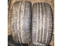 225/45/18 continental run flat tyres 7mm