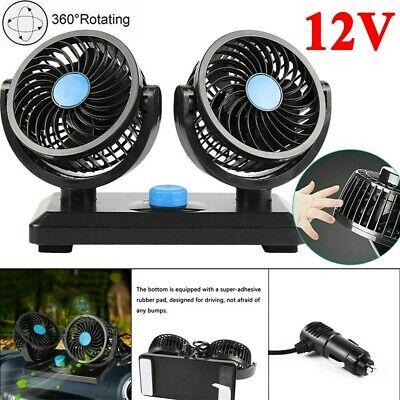 Twin Cooling System - 12V 2 Speed Car Truck Dual Fan Lorry Caravan Cool Air Twin Fan 360° Rotating US