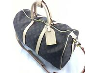 Louis Vuitton BANDOULIERE 45 brown embossed lv print style M41418
