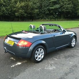Audi TT roadster, Dolomite grey, lovely car.