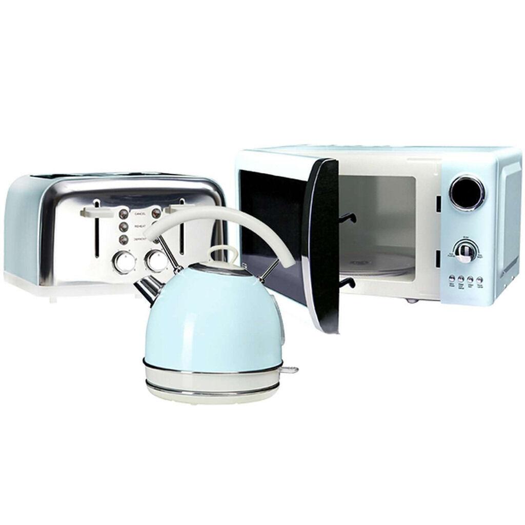 Aldi 20l Microwave Oven: Duck Egg Blue Microwave