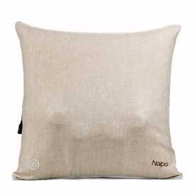 Naipo Cordless Back Massager Deep Shiatsu Massage Throw Pillow with Heating and Linen Cover