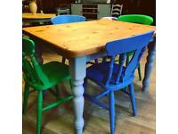 Lovely refurbished dining table and chairs