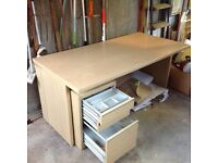 Office desk and matching drawers
