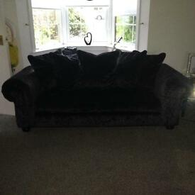 2 X 3 seater crushed velvet Lawrence Lewellyn Bowen couch