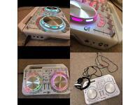 Pioneer mixing decks and Sony headphones