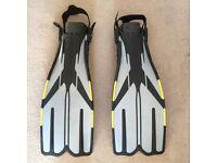 Cressi Sub open heeled scuba Diving Fins